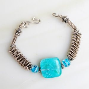 Jewelry - Artisan made bracelet with handmade glass beads.